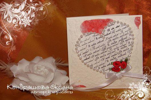 Валентинки ручной работы. Ярмарка Мастеров - ручная работа. Купить открытки на все случаи жизни. Handmade. Открытка, подарок любимому
