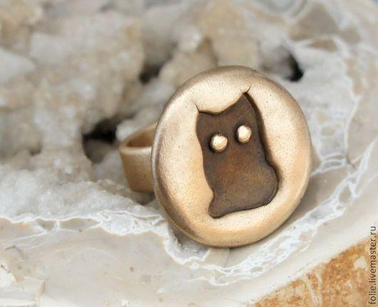 """Кольца ручной работы. Ярмарка Мастеров - ручная работа. Купить Кольцо """"Cat"""". Handmade. Золотой, кольцо из бронзы"""