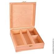 Материалы для творчества handmade. Livemaster - original item 26268YA4 non-STANDARD CELLS: decoupage box 26 26 8 cm. Handmade.