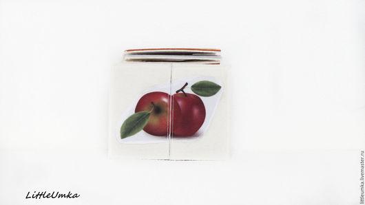 Развивающие игрушки ручной работы. Ярмарка Мастеров - ручная работа. Купить Puzzle для самых маленьких из двух и четырех частей. Фрукты и ягоды.. Handmade.