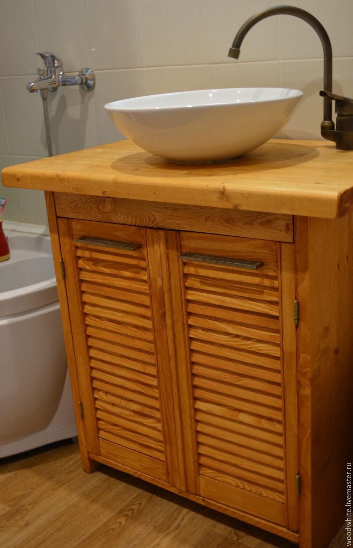 "Мебель ручной работы. Ярмарка Мастеров - ручная работа. Купить Тумба для накладной раковины ""Чара"". Handmade. Ванная, ванная комната"