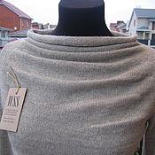 Одежда ручной работы. Ярмарка Мастеров - ручная работа Джемпер с драпировкой из нежной альпаки. Handmade.