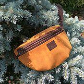 Сумки и аксессуары handmade. Livemaster - original item Waist bag mustard. Handmade.