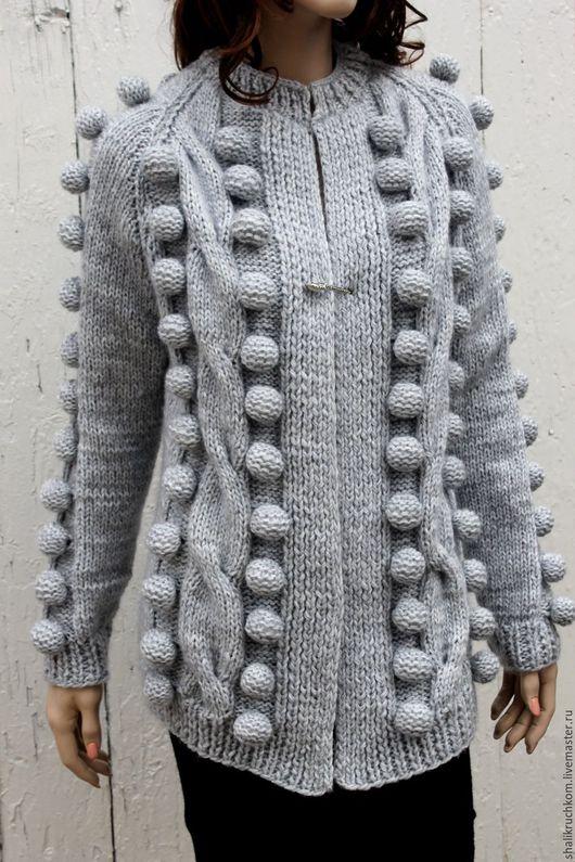 Кофты и свитера ручной работы. Ярмарка Мастеров - ручная работа. Купить Вязаный кардиган в стиле шарики ручной работы. Handmade.
