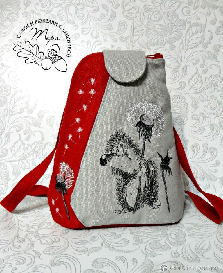 Textile backpack My hedgehog by oduvan, Backpacks, Krasnodar,  Фото №1