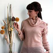 Одежда ручной работы. Ярмарка Мастеров - ручная работа Туника из кид-мохера цвета пудры. Handmade.