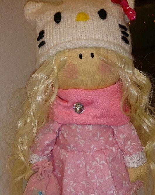 Куклы Тильды ручной работы. Ярмарка Мастеров - ручная работа. Купить Куколка Китти 32см. Handmade. Интерьерная кукла, трессы
