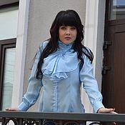 Одежда ручной работы. Ярмарка Мастеров - ручная работа Блузка с воланом. Handmade.