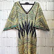 Одежда handmade. Livemaster - original item Dress-kimono coupon color black-yellow-green.. Handmade.