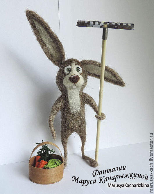 Игрушки животные, ручной работы. Ярмарка Мастеров - ручная работа. Купить Заяц дачник. Игрушки на заказ.. Handmade. Авторская игрушка