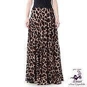 """Одежда ручной работы. Ярмарка Мастеров - ручная работа Роскошная леопардовая юбка """"Хищница"""" трикотаж на резинке широкой. Handmade."""