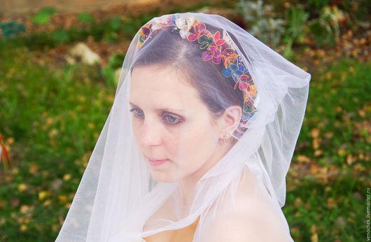 Одежда и аксессуары ручной работы. Ярмарка Мастеров - ручная работа. Купить Венчальный венец. Handmade. Комбинированный, старинный стиль