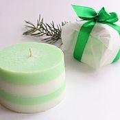Сувениры и подарки handmade. Livemaster - original item Scented candle with a fresh aroma of a coniferous forest. Handmade.