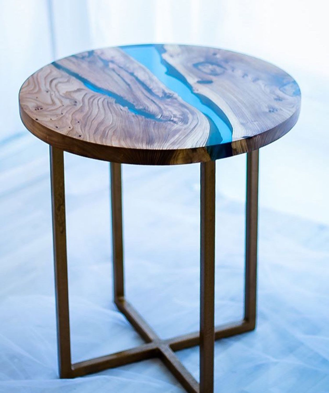 вид дизайн стол эпоксидная смола фото кондор