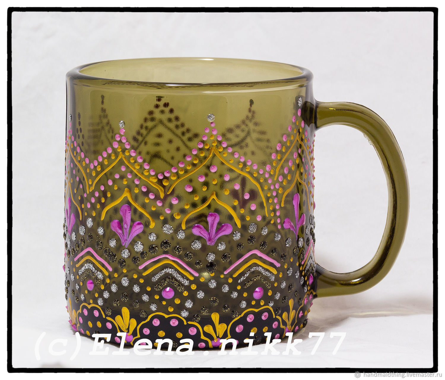 Mug 'Golden', Mugs and cups, Moscow,  Фото №1