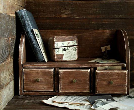 """Мини-комоды ручной работы. Ярмарка Мастеров - ручная работа. Купить Комод настольный """"Воспоминания"""". Handmade. Коричневый, рабочий стол"""