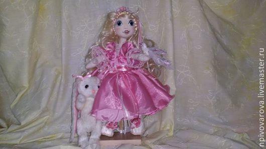 """Коллекционные куклы ручной работы. Ярмарка Мастеров - ручная работа. Купить Кукла """"Зефирка"""" с зайкой. Handmade. Розовый"""