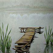 Картины и панно ручной работы. Ярмарка Мастеров - ручная работа Утро на берегу. Handmade.