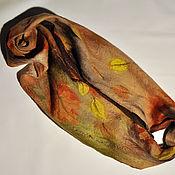 Снуды ручной работы. Ярмарка Мастеров - ручная работа Снуд Осенний ветер. Бесконечный шарф-хомут из шерсти и шелка. Handmade.