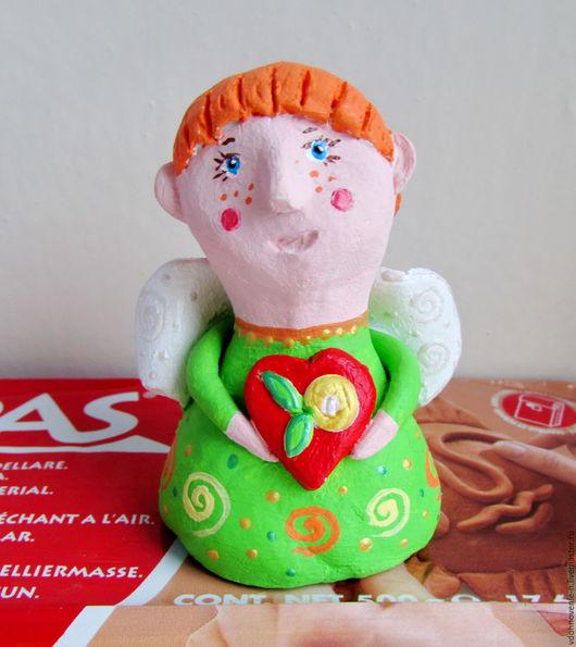 Человечки ручной работы. Ярмарка Мастеров - ручная работа. Купить Ангелочек с сердечком. Handmade. Комбинированный, ангелочек, ангел-хранитель, сувениры