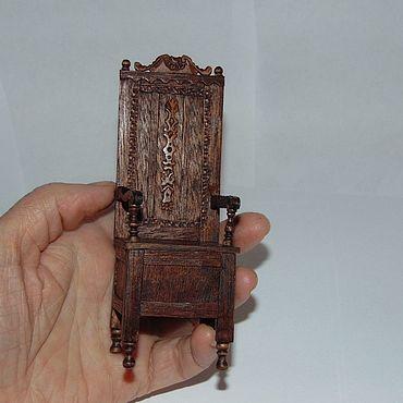 Куклы и игрушки ручной работы. Ярмарка Мастеров - ручная работа Средневековое кресло 1:12. Handmade.