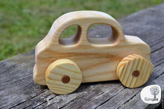 Развивающие игрушки ручной работы. Ярмарка Мастеров - ручная работа. Купить Машинка-каталка. Развивающая деревянная игрушка.. Handmade.