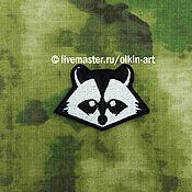 Материалы для творчества handmade. Livemaster - original item patch Raccoon (Krupowki). Handmade.