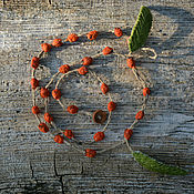 Украшения handmade. Livemaster - original item Rowan beads textiles. Handmade.