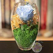 Флорариумы ручной работы. Ярмарка Мастеров - ручная работа Флорариум - цветы в вазе. Handmade.