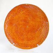 Посуда ручной работы. Ярмарка Мастеров - ручная работа Тарелка «Апельсинка». Handmade.