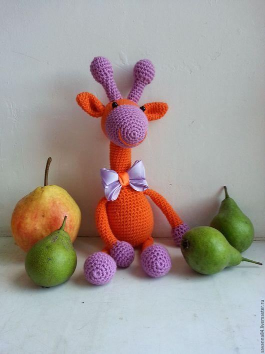 """Игрушки животные, ручной работы. Ярмарка Мастеров - ручная работа. Купить Жираф """"Оранж"""". Handmade. Вязаная игрушка, игрушка жираф"""