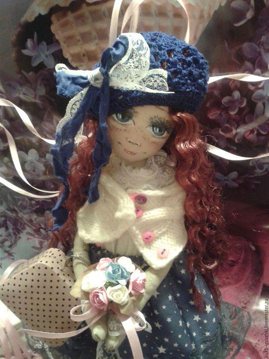 Куклы Тильды ручной работы. Ярмарка Мастеров - ручная работа. Купить Кукла ручной работы. Handmade. Синий, интерьерная кукла