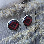 Украшения handmade. Livemaster - original item Earrings silver plated Cage red. Handmade.