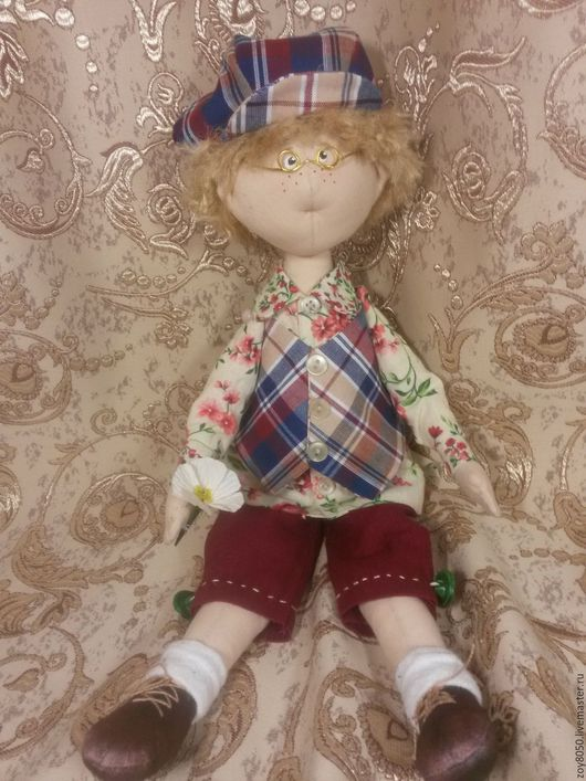 Человечки ручной работы. Ярмарка Мастеров - ручная работа. Купить Кукла Гриша. Handmade. Комбинированный, игрушка ручной работы