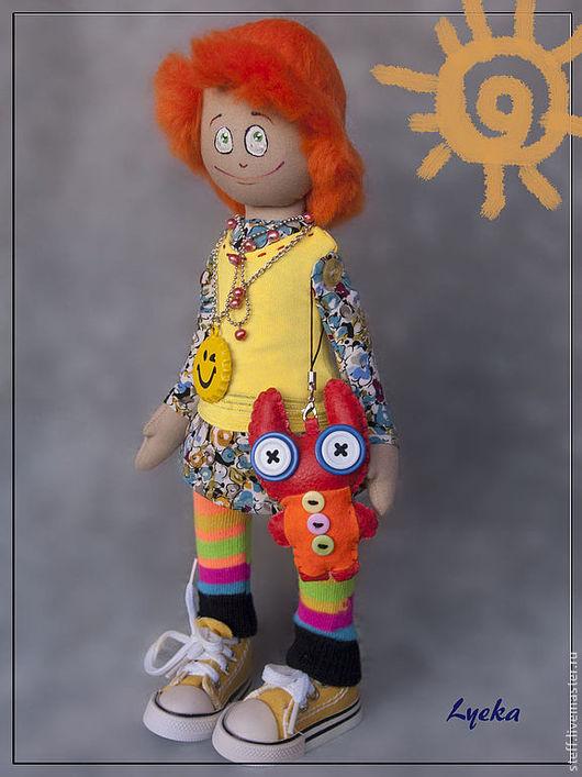 Ароматизированные куклы ручной работы. Ярмарка Мастеров - ручная работа. Купить Чудачка Лилу с чудо-зайкой. Handmade. Интерьерная кукла