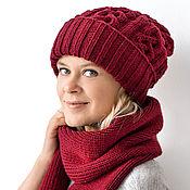 Аксессуары handmade. Livemaster - original item Extra-long knitted cap