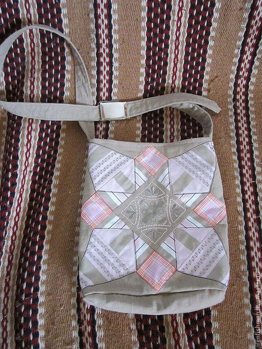 """Женские сумки ручной работы. Ярмарка Мастеров - ручная работа. Купить сумка """"Нежность"""". Handmade. Бежевый, печворк, летняя сумка"""
