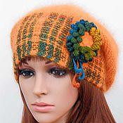 Аксессуары handmade. Livemaster - original item Knitted women`s hat beanie Angora on the original bezel. Handmade.