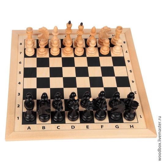 Настольные игры ручной работы. Ярмарка Мастеров - ручная работа. Купить шахматное поле с фигурами 52 на 52 см.. Handmade.