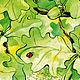"""Животные ручной работы. Заказать Картина """"Август"""". Солнечное настроение (Юлия). Ярмарка Мастеров. Птица, желудь, природа, акварельная бумага"""