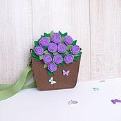 """Детская сумочка """"Фиолетовые розочки"""""""