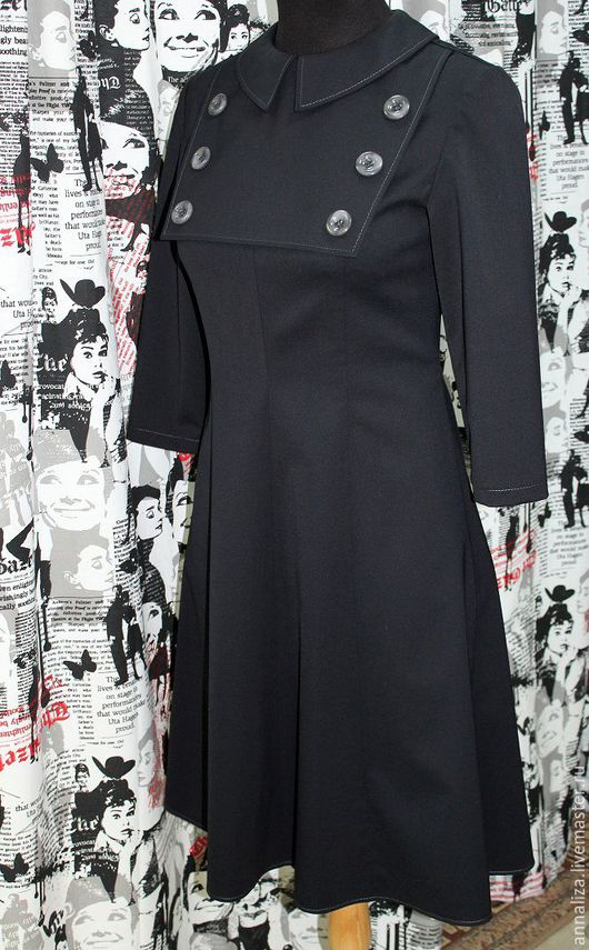 """Платья ручной работы. Ярмарка Мастеров - ручная работа. Купить Платье  в стиле ретро """"Машина времени"""" Black. Handmade."""
