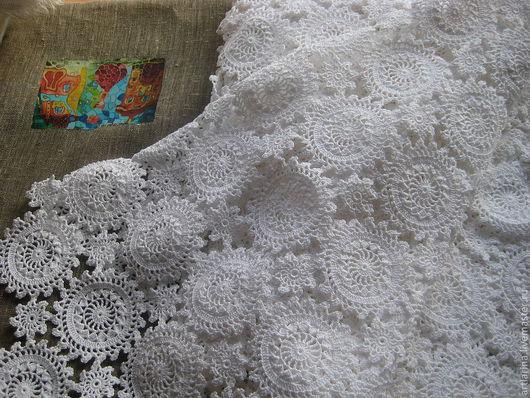 Комплекты аксессуаров ручной работы. Ярмарка Мастеров - ручная работа. Купить Белая скатерть. Handmade. Скатерть, 100% хлопок