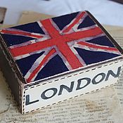"Канцелярские товары ручной работы. Ярмарка Мастеров - ручная работа Визитница ""LONDON"". Handmade."