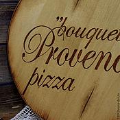 """Для дома и интерьера ручной работы. Ярмарка Мастеров - ручная работа Доска для пиццы """"Букет Прованса"""" Доска с насечкой. Handmade."""