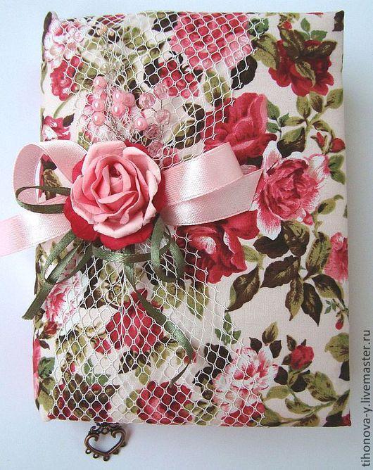 Блокноты ручной работы. Ярмарка Мастеров - ручная работа. Купить Блокнот в стиле шебби-шик. Handmade. Розовый, купить блокнот