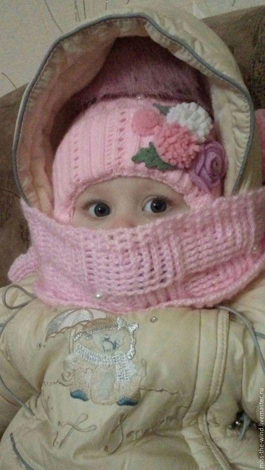 Шапки и шарфы ручной работы. Ярмарка Мастеров - ручная работа. Купить Детский шарфик. Handmade. Бледно-розовый, шарф для девочки