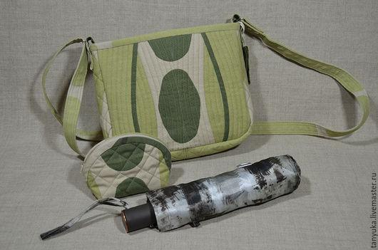 Женские сумки ручной работы. Ярмарка Мастеров - ручная работа. Купить Сумка текстильная летняя через плечо. Handmade. Разноцветный