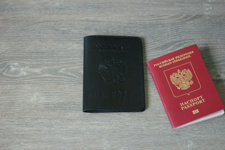 Обложка для паспорта из натуральной кожи, Обложки, Набережные Челны,  Фото №1