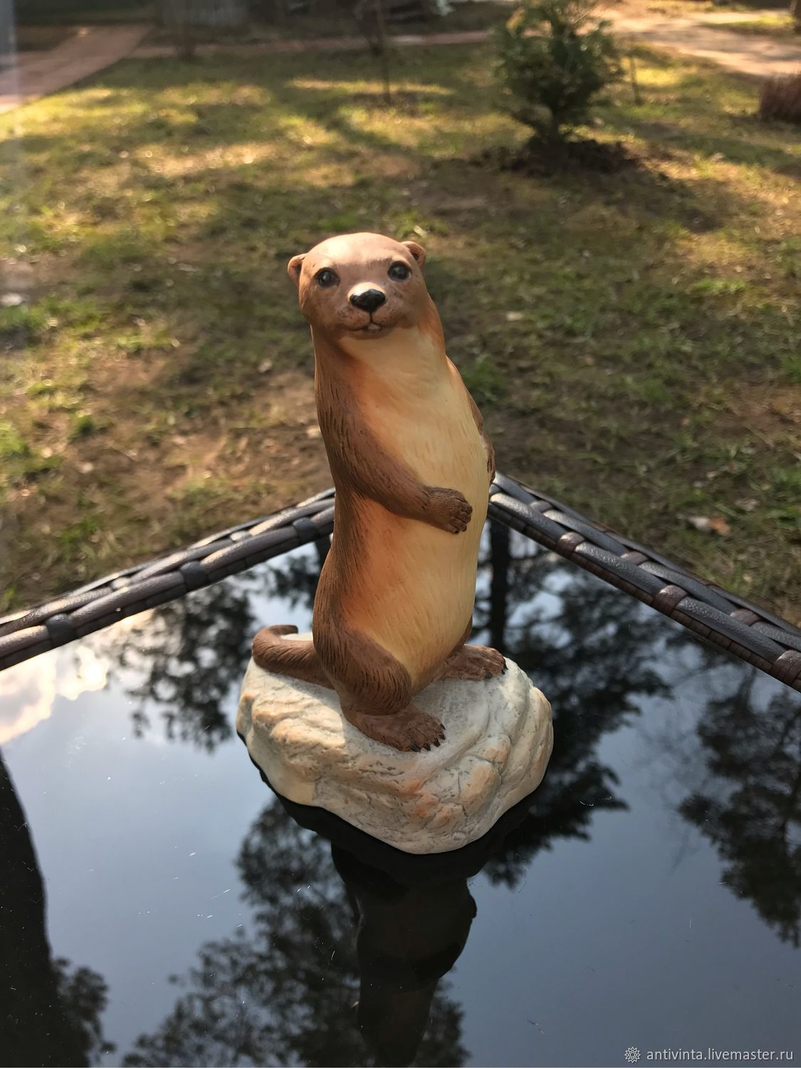 Aynsley statuette otter England, 1975, Vintage interior, Moscow,  Фото №1